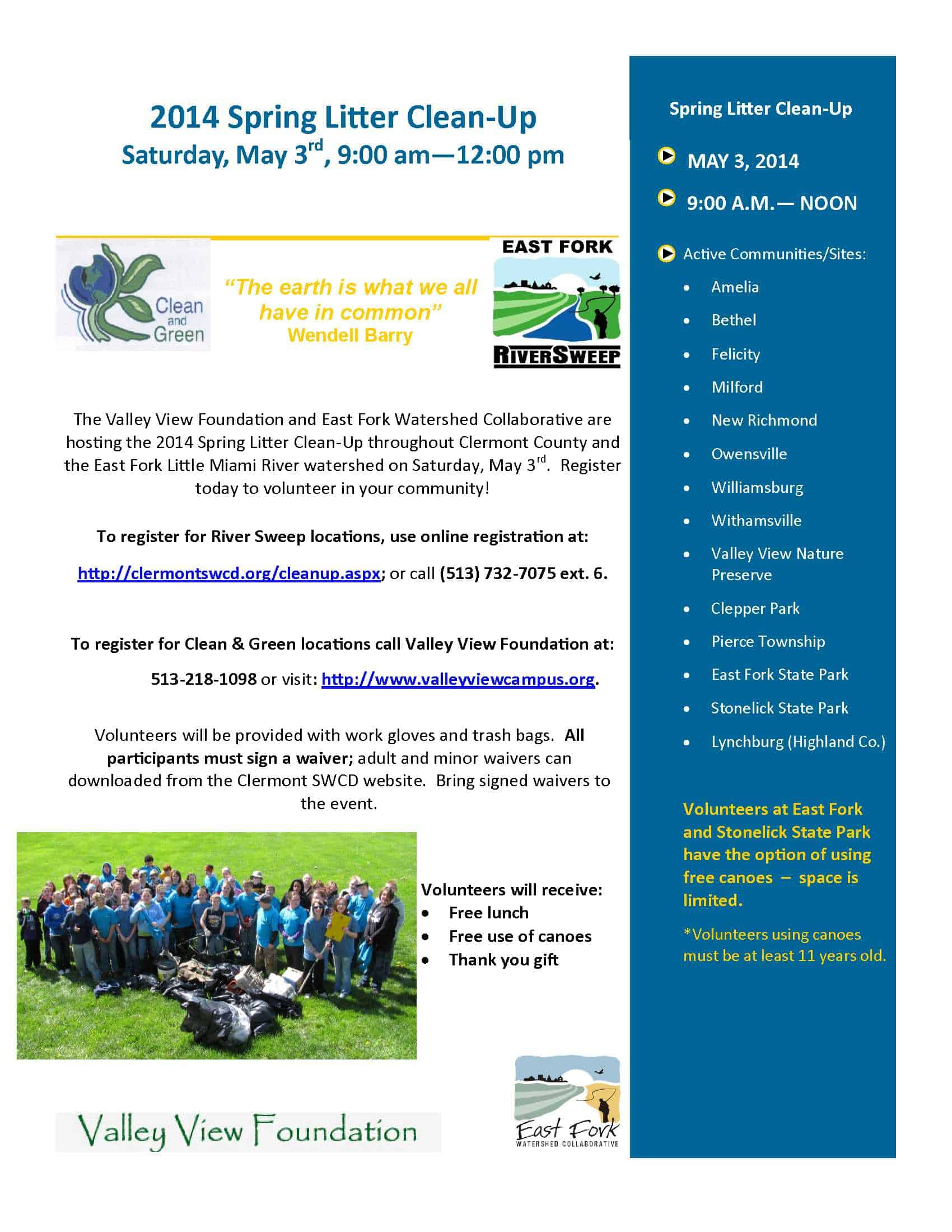 2014 spring cleanup