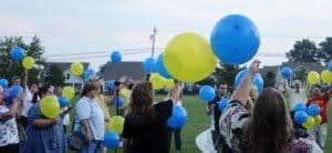 candlelight vigil balloons