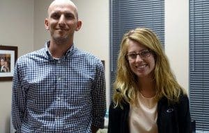 Bill DeHass and intern Paige Knechtly.