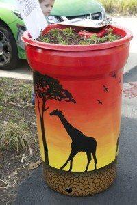 rain barrel art